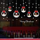 billige Sykkeljerseys-jule tegneserie vindu film& klistremerker dekorasjon mønstret / jul geometrisk / karakter pvc (polyvinylklorid) vindu klistremerke / morsomt