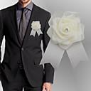 ราคาถูก ดอกไม้งานแต่งงาน-ดอกไม้สำหรับงานแต่งงาน ช่อดอกไม้ที่ใช้ติดเสื้อเจ้าบ่าวและญาติที่เป็นผู้ชายของเจ้าบ่าวและเจ้าสาว งานแต่งงาน แพรต่วน / โฟม 0-10 ซม.