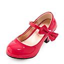 povoljno Male štikle za djevojčice-Djevojčice Udobne cipele PU Cipele na petu Mala djeca (4-7s) Mašnica Crn / Crvena / Pink Ljeto