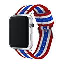 billige Bokser, vesker og potter til kosmetikk-mote stropp band for apple watch serie 4 3 2 1 nylon stropp for iwatch klassiske stiler farger mønster med adaptere 44mm / 40mm / 38mm / 42mm