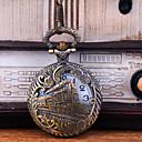 voordelige Zakhorloge-Heren Zakhorloge Kwarts Vintagestijl Hol Gegraveerd Creatief Nieuw Design Analoog-Digitaal Vintage - Bronzen