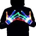 זול קישוט אורות-כפפות זוהרות צבעוניות 6 דפוסי led כפפות led כפפות קסם חידוש מסיבת תחפושות ליל כל הקדושים מסיבת תחפושות זוג