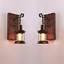 Χαμηλού Κόστους Απλίκες Τοίχου-CONTRACTED LED® Δημιουργικό / Νεό Σχέδιο Ρουστίκ / Εξοχικό / Βίντατζ Λαμπτήρες τοίχου Εσωτερικό Μέταλλο Wall Light 110-120 V / 220-240 V 60 W
