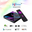 baratos Prateleiras de Banheiro-H96 max smart android 9.0 caixa de tv rk3318 quad core 64 bits uhd 4 k vp9 h.265 4 gb / 64 gb 2.4 g / 5g wi-fi bt4.0 hd media player tv caixa