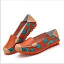 ราคาถูก รองเท้าแตะและรองเท้าโลฟเฟอร์สำหรับผู้หญิง-สำหรับผู้หญิง รองเท้าส้นเตี้ยทำมาจากหนังและรองเท้าสวมแบบไม่มีเชือก ส้นแบน ปลายกลม Microfibre ฤดูร้อน สีดำ / ขาว / สีบานเย็น