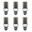 Χαμηλού Κόστους LED Φωτολωρίδες-6pcs 15 W LED Λάμπες Καλαμπόκι 1500 lm E14 B22 E26 / E27 T 138 LED χάντρες SMD 4014 Νεό Σχέδιο Θερμό Λευκό Άσπρο 220-240 V 110-120 V