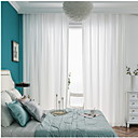ราคาถูก ม่านปรับแสง-เกี่ยวกับยุโรป กึ่งเชียร์ สองช่อง Sheer ห้องนอน   Curtains