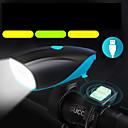 baratos Armazenamento e Organização-LED Luzes de Bicicleta Lanterna com Buzina para Bicicleta LED Ciclismo de Montanha Moto Ciclismo Impermeável Múltiplos Modos Super brilhante Segurança Li-Ion 1000 lm Recarregável USB Branco Campismo