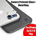 Χαμηλού Κόστους HUD Προβολής στο Παρμπρίζ-για το iphone 7 γυαλί για το iphone 8 plus 6s 6 9h κάμερα σκληρότητας προστατευτικό γυαλί + μέταλλο οπίσθιου φακού κάμερα προστατευτικό δακτύλιο