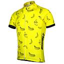ราคาถูก กางเกงปีนเขาและกางเกงขาสั้น-21Grams สำหรับผู้ชาย แขนสั้น Cycling Jersey สีเหลือง จักรยาน Tops ขี่จักรยานปีนเขา Road Cycling ทน UV ระบายอากาศ Moisture Wicking กีฬา Terylene เสื้อผ้าถัก / ผสมยางยืดไมโคร / แห้งเร็ว / แห้งเร็ว