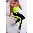 Χαμηλού Κόστους Ρούχα τρεξίματος-Γυναικεία Αθλητικό Αθλητικές Φόρμες Παντελόνι - Μονόχρωμο Αθλητικό / Patchwork Πράσινο του τριφυλλιού Γκρίζο Φούξια M L XL