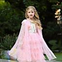 Χαμηλού Κόστους Παιδικά Αξεσουάρ Κεφαλής-Elsa Στολές Ηρώων Μανδύας Χορός μεταμφιεσμένων Κοριτσίστικα Στολές Ηρώων Ταινιών Στολές Ηρώων Halloween Λευκό / Βυσσινί / Μπλε Μελάνι Μανδύας Halloween Απόκριες Μασκάρεμα Τούλι Πολυεστέρας