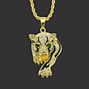 povoljno Muške ogrlice-Muškarci Ogrlice s privjeskom Duga ogrlica Klasičan Tigar Jedinstven dizajn Moda Pozlaćeni Krom Zlato Srebro 75 cm Ogrlice Jewelry 1pc Za Ulica