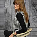 Χαμηλού Κόστους Κολιέ-Γυναικεία Εξόδου / Δουλειά Βασικό Άνοιξη / Φθινόπωρο & Χειμώνας Κανονικό Σακάκι, Συνδυασμός Χρωμάτων Ασπρόμαυρο Χωρίς Γιακά Μακρυμάνικο Πολυεστέρας Μαύρο