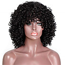 cheap Human Hair Capless Wigs-Remy Human Hair Lace Front Wig style Brazilian Hair Kinky Curly Black Wig 150% Density Women's Short Human Hair Lace Wig beikashang