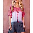 Χαμηλού Κόστους Χωρίς κάλυμμα-Γυναικεία Γραμμή Α Φόρεμα - Συνδυασμός Χρωμάτων Πάνω από το Γόνατο