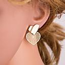 Χαμηλού Κόστους Σκουλαρίκια-Γυναικεία Χρυσό Κουμπωτά Σκουλαρίκια Γεωμετρική Καρδιά Απλός Ευρωπαϊκό Μοντέρνο Μοντέρνα Σκουλαρίκια Κοσμήματα Χρυσό Για Καθημερινά 1 Pair