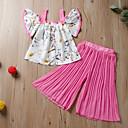 baratos Sombrinhas-bebê Para Meninas Activo / Básico Margarida Sólido / Estampado Estampado Sem Manga Padrão Padrão Conjunto Rosa