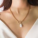 Χαμηλού Κόστους Μοδάτο Κολιέ-Γυναικεία Κρεμαστά Κολιέ Κρεμαστό Μοντέρνο Ρομαντικό Μοντέρνα Μαργαριτάρι Χρώμιο Λευκό 42 cm Κολιέ Κοσμήματα 1pc Για Δώρο Καθημερινά Απόκριες Αργίες Φεστιβάλ
