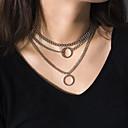 Χαμηλού Κόστους Μοδάτο Κολιέ-Γυναικεία Κρεμαστά Κολιέ Κρεμαστό πολυεπίπεδη Κολιέ Casual / Σπορ Χαλκός Χρυσό Ασημί 30 cm Κολιέ Κοσμήματα 1pc Για Καθημερινά