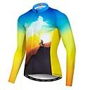 Χαμηλού Κόστους Τζάκετ Ποδηλασίας-21Grams Ανδρικά Μακρυμάνικο Φανέλα ποδηλασίας Μπλε +Κίτρινο Νεωτερισμός Ποδήλατο Αθλητική μπλούζα Μπολύζες Ποδηλασία Βουνού Ποδηλασία Δρόμου Ανθεκτικό στην υπεριώδη ακτινοβολία Αναπνέει Ύγρανση