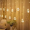 povoljno Svadbeni ukrasi-2.5m Žice sa svjetlima 138 LED diode Toplo bijelo Ukrasno 220-240 V 1set