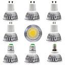 Χαμηλού Κόστους Σποτάκια LED-9pcs 7 W LED Σποτάκια 300 lm E14 GU10 GU5.3 1 LED χάντρες COB Με ροοστάτη Νεό Σχέδιο Θερμό Λευκό Άσπρο 220-240 V 110-120 V