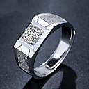 Χαμηλού Κόστους Αντρικά Αξεσουάρ-Ανδρικά Ανοίξτε τον δακτύλιο Ρυθμιζόμενο δαχτυλίδι 1pc Ασημί Χαλκός Επάργυρο Geometric Shape Απλός Μοντέρνα Καθημερινά Δουλειά Κοσμήματα Κλασσικό Πολύτιμος Απίθανο
