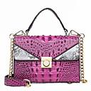 ราคาถูก กระเป๋า Totes-สำหรับผู้หญิง กระดุม / โซ่ Patent Leather / PU กระเป๋าถือยอดนิยม จระเข้ สีดำ / สีน้ำตาล / สีม่วง / ฤดูใบไม้ร่วง & ฤดูหนาว
