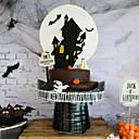 זול פנימית נורות לילה-עוגת טירת נייר ליל כל הקדושים הכנס עוגות קישוטים למסיבה חגיגית אספקת ליל כל הקדושים