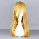 billige 3D gardiner-Attack on Titan Cosplay Cosplay-parykker Dame Kort blondt hår 24 tommers Varmeresistent Fiber Naturlig rett Gull Gylden Anime