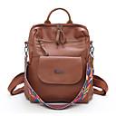ราคาถูก เป้แฟชั่น-Large Capacity PU ซิป กระเป๋าเป้สะพายหลัง สีทึบ ทุกวัน สีดำ / สีน้ำตาล