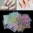 ราคาถูก สติกเกอร์ติดเล็บ-10 pcs 3D สติ๊กเกอร์สำหรับเล็บ Water Stick Sticker Flower / Petal เล็บ ทำเล็บมือเล็บเท้า ต้านแรงเสียดทาน / Transparent / คลาสสิก ตุ๊กตาโลลิต้า / โรแมนติก เทศกาล