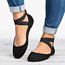 ราคาถูก รองเท้าแตะและรองเท้าโลฟเฟอร์สำหรับผู้หญิง-สำหรับผู้หญิง รองเท้าส้นเตี้ย ส้นแบน ปลายกลม Microfibre ฤดูร้อน สีดำ / เสือดาว / สีทอง
