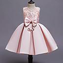 Χαμηλού Κόστους Kids' Flats-Παιδιά Κοριτσίστικα χαριτωμένο στυλ Κομψό στυλ street Patchwork Χάντρες Φιόγκος Patchwork Αμάνικο Φόρεμα Κρασί