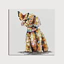 billiga Djurporträttmålningar-Hang målad oljemålning HANDMÅLAD - Djur Moderna Inkludera innerram