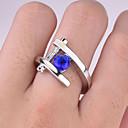 billige Fashion Rings-Dame Ring 1pc Blå Fuskediamant Legering Rund Vintage trendy Koreansk Daglig Smykker Heldig