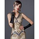 Χαμηλού Κόστους Κοστούμια με Θέμα Ταινίες & Τηλεόραση-The Great Gatsby Τσάρλεστον 1920s Χρυσή δεκαετία του '20 Καλοκαίρι Φανελάκι φόρεμα Γυναικεία Πούλιες Στολές Μαύρο / Πράσινο Σμαραγδί / Μαύρο / Κόκκινο Πεπαλαιωμένο Cosplay Πάρτι Χοροεσπερίδα Αμάνικο