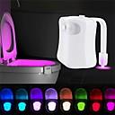 billiga LED-duschhuvuden-loende smart rörelsesensor toalettstol nattljus 8 färger vattentät bakgrundsbelysning för toalettskål ledde luminaria lampa wc toalettljus