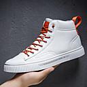 Χαμηλού Κόστους Αντρικές Μπότες-Ανδρικά Fashion Boots Δέρμα Ανοιξη καλοκαίρι / Φθινόπωρο & Χειμώνας Καθημερινό Αθλητικά Παπούτσια Αναπνέει Μπότες στη Μέση της Γάμπας Μαύρο / Λευκό