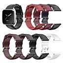 baratos Perucas de Cabelo Natural-pulseira de faixa de relógio de couro genuíno de substituição para fitbit versa lite / versa
