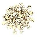 olcso Karácsonyi dekoráció-100db fa karácsonyfa díszek mini hópehely fa függő medálok karácsonyi díszek otthoni újévi ajándék