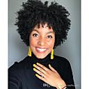 billiga Syntetiska peruker utan hätta-Syntetiska peruker Afro Kinky Bob-frisyr Peruk Korta Svart Syntetiskt hår 6 tum Dam Klassisk Dam syntetisk Svart / Afro-amerikansk peruk
