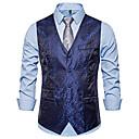 זול קישוט אורות-בגדי ריקוד גברים לבן שחור כחול נייבי US36 / UK36 / EU44 US38 / UK38 / EU46 US42 / UK42 / EU50 וסט גיאומטרי צווארון V רזה