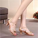 baratos Sapatos de Dança Latina-Mulheres Sapatos de Dança Cetim Sapatos de Dança Latina / Sapatos de Salsa Presilha Sandália Salto Personalizado Personalizável Prateado / Marrom / Dourado / Espetáculo / Couro / EU40