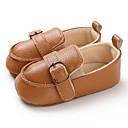 ราคาถูก รองเท้าหนังเด็ก-เด็กผู้ชาย / เด็กผู้หญิง สำหรับการเดินครั้งแรก PU รองเท้าส้นเตี้ยทำมาจากหนังและรองเท้าสวมแบบไม่มีเชือก ทารก (0-9m) / เด็กวัยหัดเดิน (9m-4ys) สีน้ำตาล / ขาว / สีดำ ฤดูใบไม้ผลิ / ฤดูร้อน