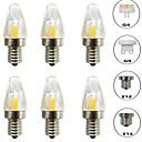 Χαμηλού Κόστους Κλειδαριές με πληκτρολόγιο-6pcs 3 W LED Φώτα με 2 pin 300 lm E14 G9 G4 T 1 LED χάντρες COB Με ροοστάτη Νεό Σχέδιο Θερμό Λευκό Άσπρο 220-240 V 110-120 V