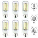 Χαμηλού Κόστους Λάμπες Καλαμπόκι LED-6pcs 20 W LED Λάμπες Καλαμπόκι 2000 lm E14 B22 E26 / E27 T 144 LED χάντρες SMD 5730 Νεό Σχέδιο Θερμό Λευκό Άσπρο 220-240 V 110-120 V