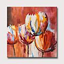 Χαμηλού Κόστους Πίνακες με Λουλούδια/Φυτά-Hang-ζωγραφισμένα ελαιογραφία Ζωγραφισμένα στο χέρι - Αφηρημένο Άνθινο / Βοτανικό Μοντέρνα Χωρίς Εσωτερικό Πλαίσιο