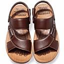 Χαμηλού Κόστους Αντρικά Πέδιλα-Ανδρικά Παπούτσια άνεσης Δέρμα Καλοκαίρι Σανδάλια Μαύρο / Καφέ / Κίτρινο